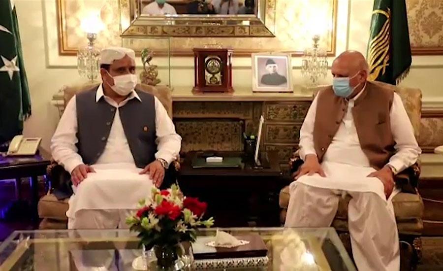 وزیراعلیٰ بزداراور گورنر چودھری سرور کی ملاقات، ایک دوسرے کو عیدالاضحیٰ کی مبارکباد دی