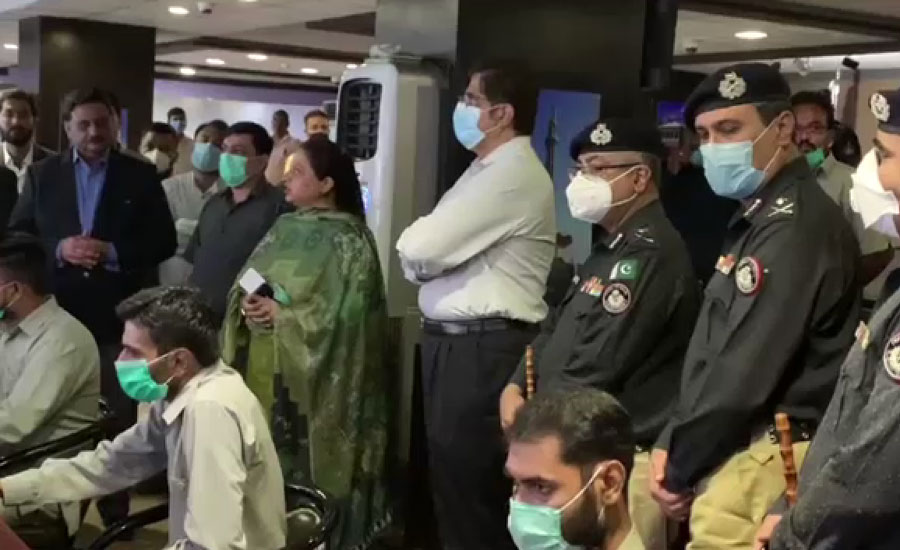 وزیراعلیٰ سندھ کا کمانڈ اینڈ کنٹرول سنٹر کا دورہ ، جلوس کی سکیورٹی سے متعلق بریفنگ دی گئی