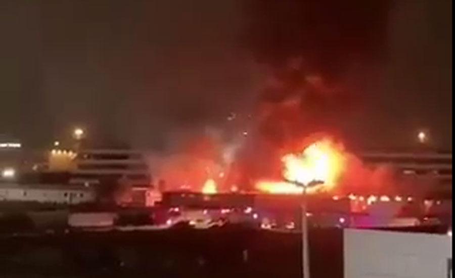 حرمین ایکسپریس ٹرین کے جدہ اسٹیشن پر اچانک آگ بھڑک اٹھی