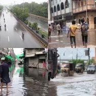 کراچی ، وقفے وقفے سے بارش ، کئی مقامات ، اہم شاہراہوں ، پانی جمع ، 92 نیوز