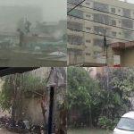 بارش سے کراچی پھر ڈوب گیا، نالے بپھر گئے، گاڑیاں بہہ گئیں