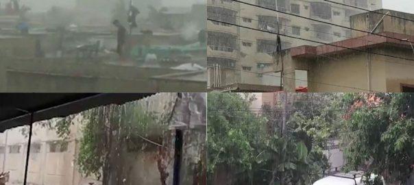 کراچی ، بارش ، جل تھل ایک ، سڑکیں ڈوب گئیں ، 92 نیوز