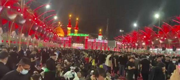کربلائے معلیٰ ، حضرت امام حسینؓ ، مزار مبارک ، بڑی تعداد ، زائرین کی حاضری ، کربلا ، 92 نیوز