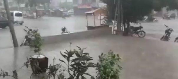 کراچی ، بارش، سڑکوں ، ٹریفک ، جام
