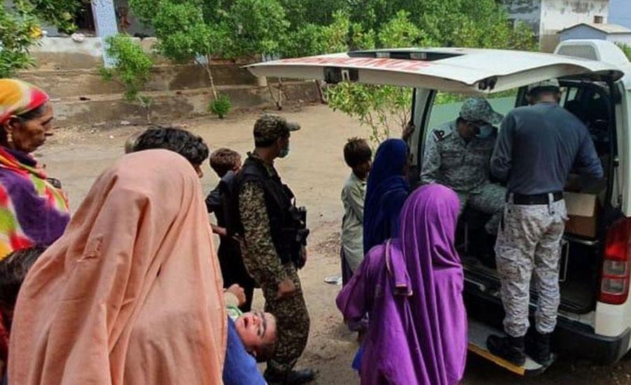 پاک بحریہ کا کراچی میں بارش سے متاثرہ علاقوں میں امدادی آپریشن جاری