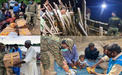 پاک بحریہ ، کراچی ، بارش ، متاثرہ ، علاقوں ، امدادی آپریشن ، جاری