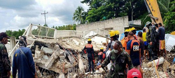 فلپائن ، .76 شدت کا زلزلہ ، گھر اور عمارتیں ، لرز اٹھیں ، ایک شخص ہلاک ، منیلا ، 92 نیوز