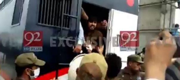 نیب آفس کے باہر ، پولیس ، لیگی کارکنوں ، پکڑ دھکڑ ، 20 گرفتار ، لاہور ، 92 نیوز