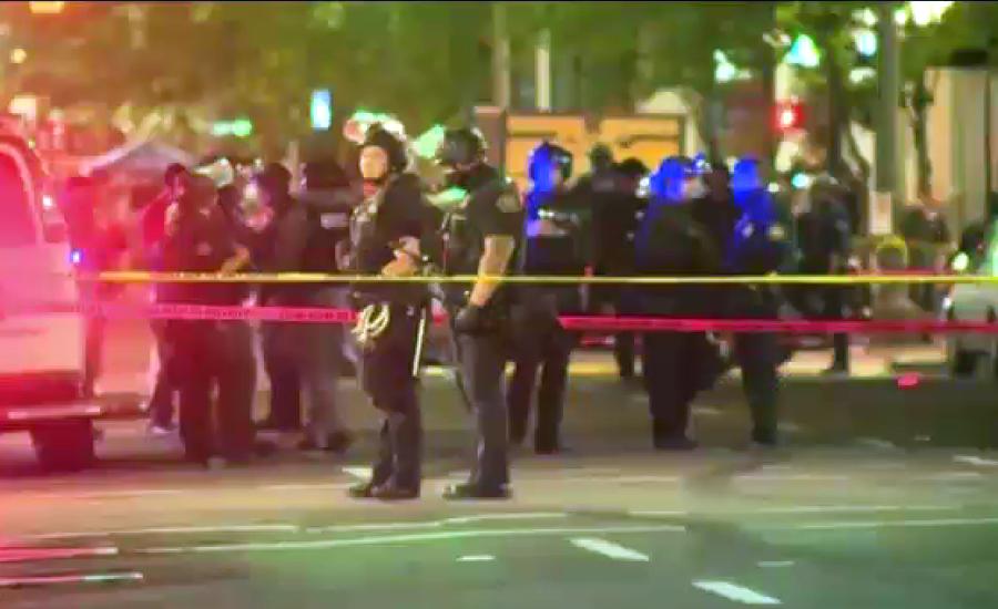 ٹرمپ کے حامیوں اور مخالفین میں تصادم ، فائرنگ سے ایک شخص ہلاک