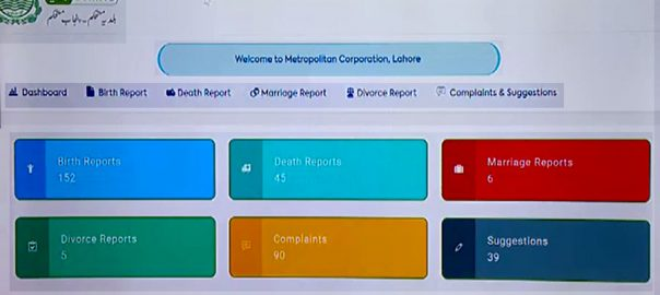 پنجاب حکومت ، بلدیہ آن لائن ایپ متعارف ، لاہور ، 92 نیوز