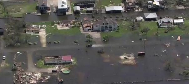 سمندری طوفان ، امریکی ریاست ، لوزیانا ، تباہی