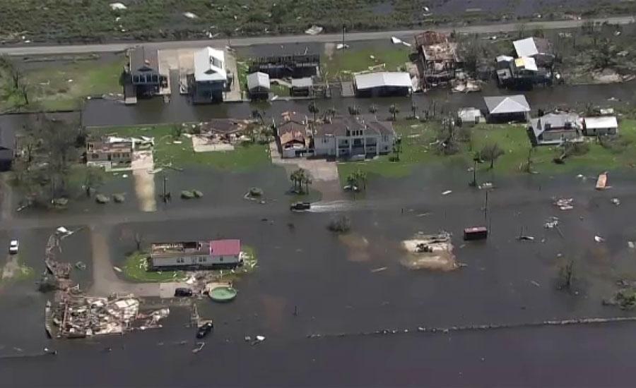 سمندری طوفان نے امریکی ریاست لوزیانا میں تباہی مچا دی
