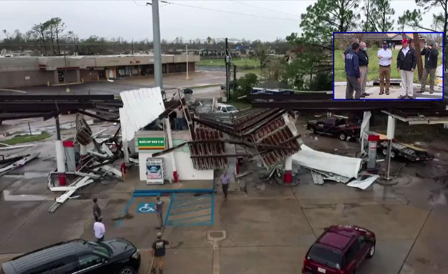 سمندری طوفان نے امریکا کی جنوبی ریاستوں میں تباہی مچا دی، کئی مکانات تباہ