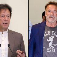Arnold with imran khan