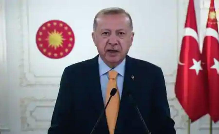 ترک صدر نے اقوام عالم کے سامنے پھر کشمیر کا مسئلہ اٹھا دیا