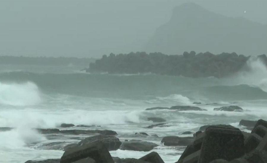 سمندری طوفان ہیشن کے ٹکرانے سے پہلے جاپان میں ریکارڈ بارش