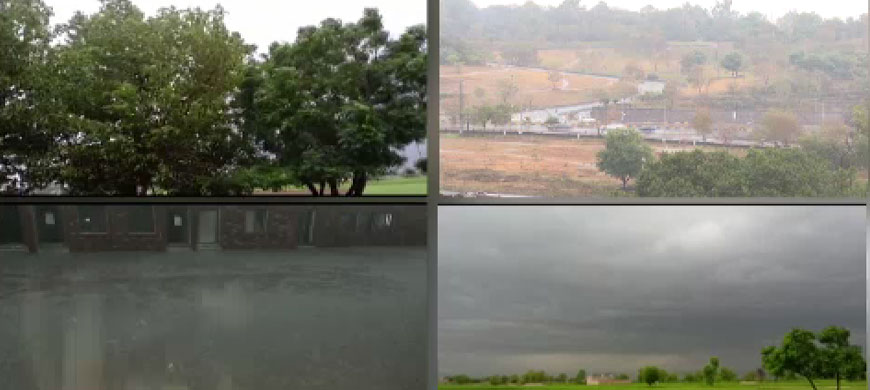 پنجاب کے مختلف علاقوں میں جاری موسلا دھار بارش سے گرمی کا زور ٹوٹ گیا