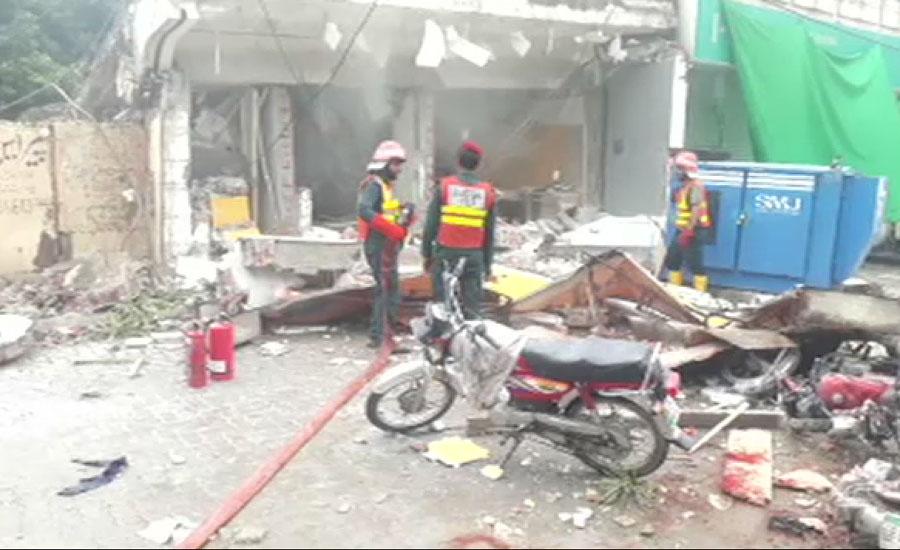 لاہور میں چوبرجی کے قریب بینک کی عمارت گر گئی ، ایک شخص جاں بحق، 21 زخمی