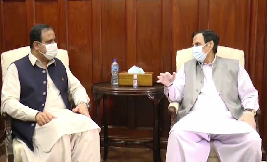 وزیراعلیٰ پنجاب سے چودھری پرویزالہٰی کی ملاقات ، ملکی سیاسی صورتحال پر تبادلہ خیال