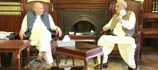 چودھری سرور ، اعجاز شاہ ، ملاقات ، سیاسی ، حکومتی امور ، تبادلہ خیال ، لاہور ، 92 نیوز