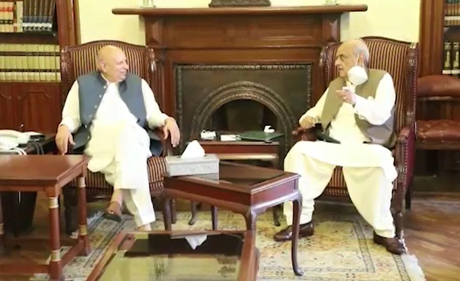 چودھری سرور اور اعجاز شاہ کی ملاقات، سیاسی اور حکومتی امور پر تبادلہ خیال