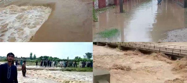 لیہ ، دریائے سندھ ، پانی ، اضافہ، داخل