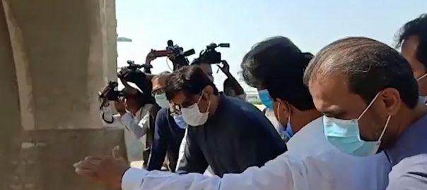 وزیراعلیٰ سندھ ، سکھر بیراج ، دورہ ، سیلابی صورتحال ، جائزہ ، 92 نیوز