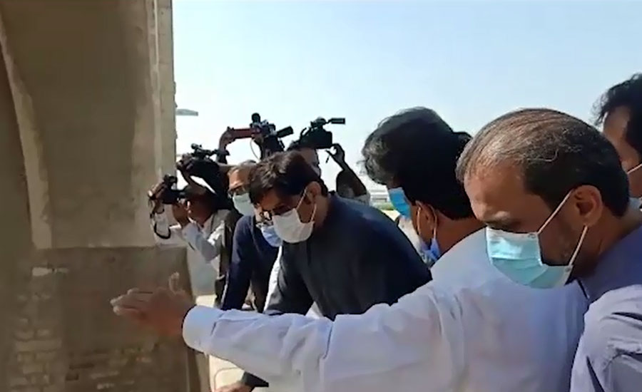 وزیراعلیٰ سندھ کا سکھر بیراج کا دورہ، سیلابی صورتحال کاجائزہ لیا
