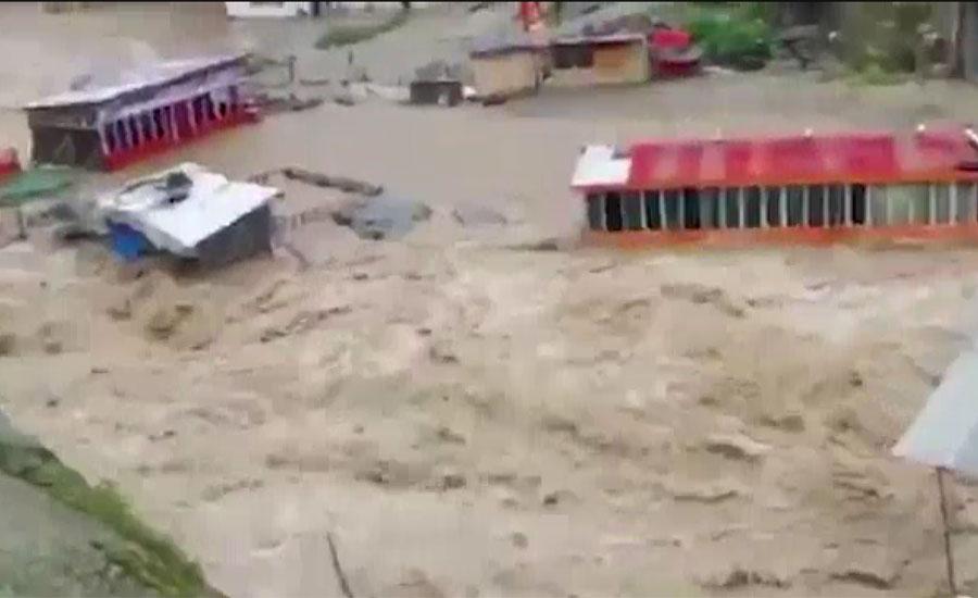 ملک کے مختلف علاقوں میں بارشوں کی تباہ کاریاں جاری