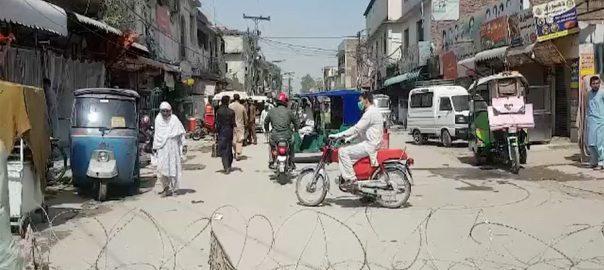 کورونا پھیلنے ، خدشہ ، پشاور ، 20 مقامات ، مائیکرو اسمارٹ لاک ڈاؤن ، سیل ، 92 نیوز