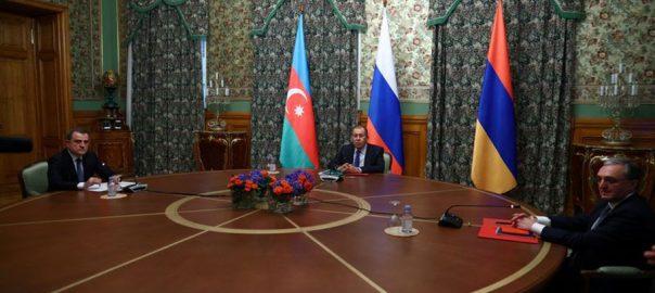 آذربائیجان ، آرمینیا ، روس کی میزبانی ، کامیاب مذاکرات ، آج ، جنگ بندی پر اتفاق ، باکو ، 92 نیوز