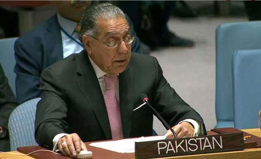 بھارت کی جارحانہ پالیسیاں بین الاقوامی امن و سلامتی کیلئے خطرہ ، منیر اکرم