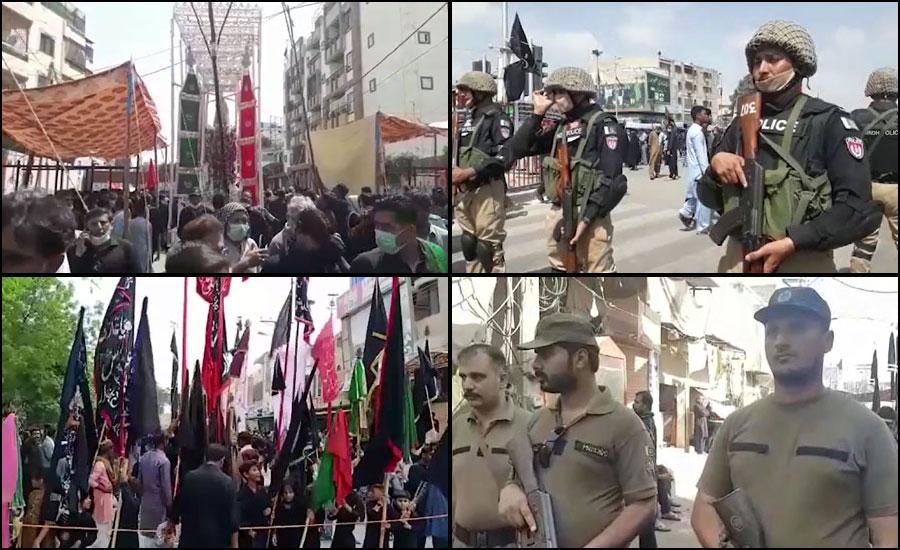 حضرت اِمام حسین رضی اللہ عنہ کے چہلم پر ملک بھر میں جلوس نکالے جا رہے ہیں