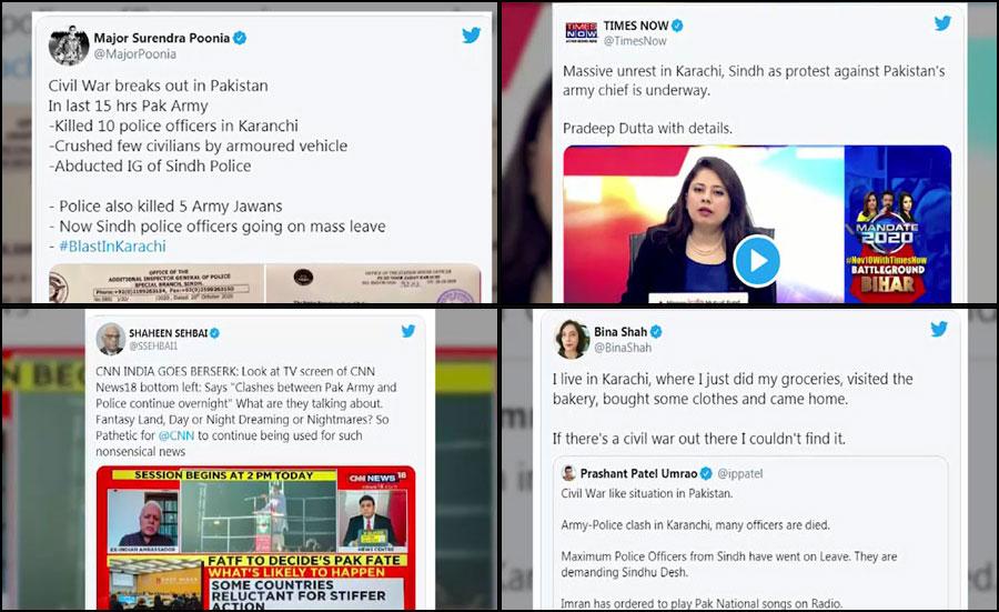 بھارتی سوشل میڈیا پر مسلسل پاک فوج، کشمیر اور سی پیک مخالف پراپیگنڈا