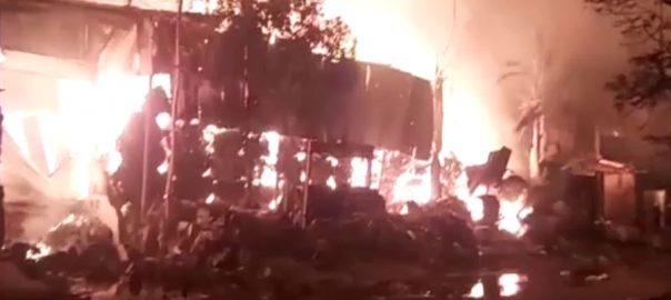 کراچی ، لانڈھی ایکسپورٹ پروسیسنگ زون ، فیکٹری ، آگ ، قابو