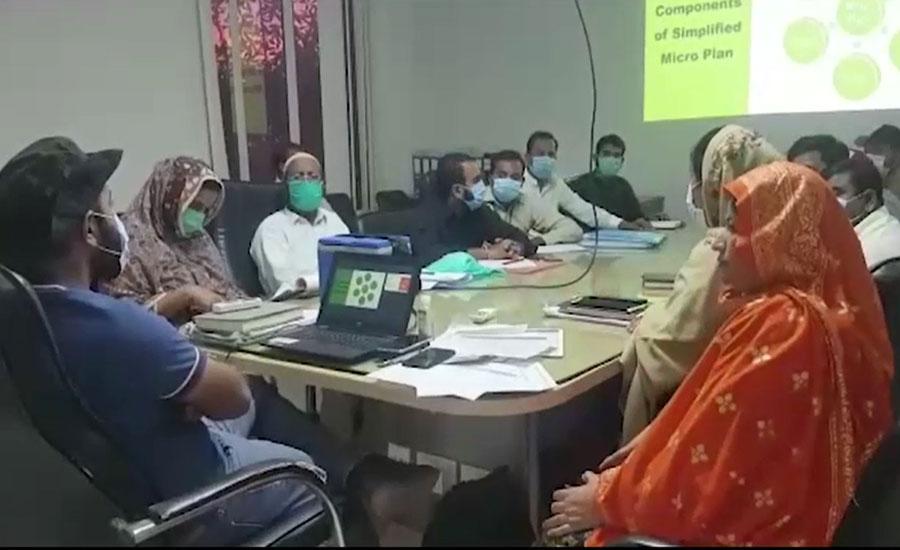 ملتان میں انسداد پولیو مہم کیلئے محکمہ صحت کی ٹیموں کی ٹریننگ جاری