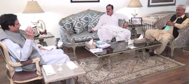 چودھری پرویز الہٰی ، وفاقی وزیر ، طارق بشیر چیمہ ، ساہیوال ، پیر ہارون زمان شاہ ، ملاقات