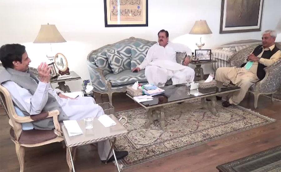 چودھری پرویز الہٰی، طارق بشیر چیمہ سے ساہیوال سے پیر ہارون زمان شاہ کی ملاقات
