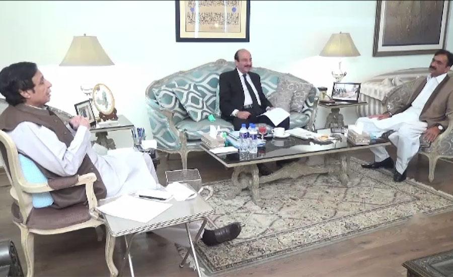 چودھری پرویز الہٰی اور سینیٹر کامل علی آغا سے خضر عباس جٹ ، صغیر احمد گڈو کی ملاقات