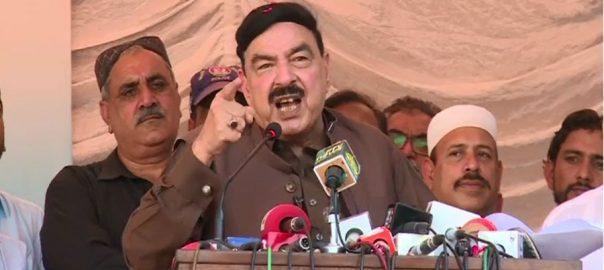عمران خان ، اسمبلیاں توڑ دینگے ، کرپٹ لوگوں ، این آر او نہیں دینگے ، شیخ رشید ، تقریب سے خطاب ، کراچی ، 92 نیوز