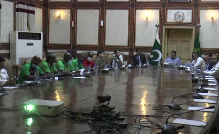 کرکٹ بورڈ زمبابوے کے وفد کا لاہور میں سیف سٹی ہیڈکوارٹرز کا دورہ