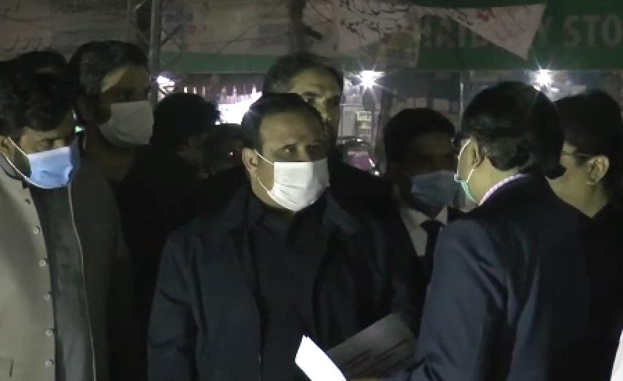 وزیر اعلیٰ کا فردوس مارکیٹ انڈر پاس منصوبے کا رات گئے دورہ