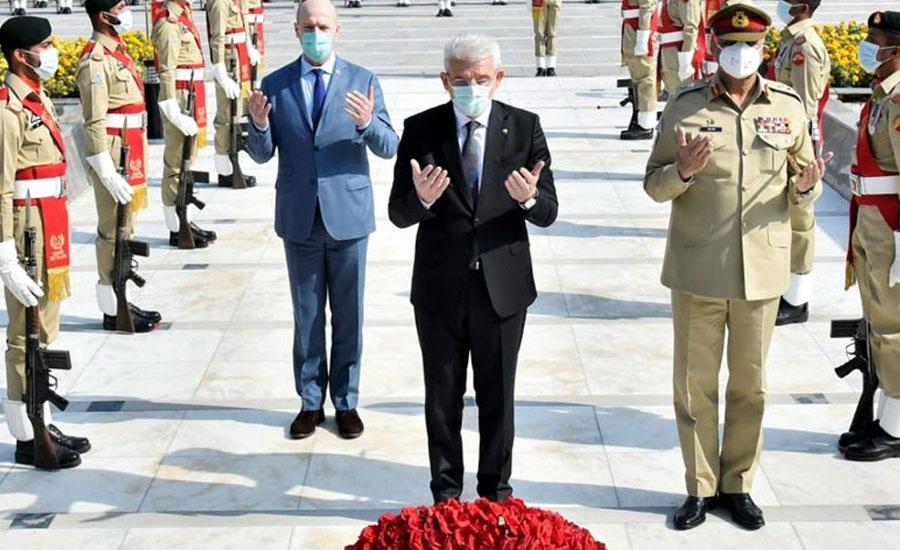 بوسنیا ہرزگوینا ایوان صدر کے چیئرمین کا جی ایچ کیو راولپنڈی کا دورہ