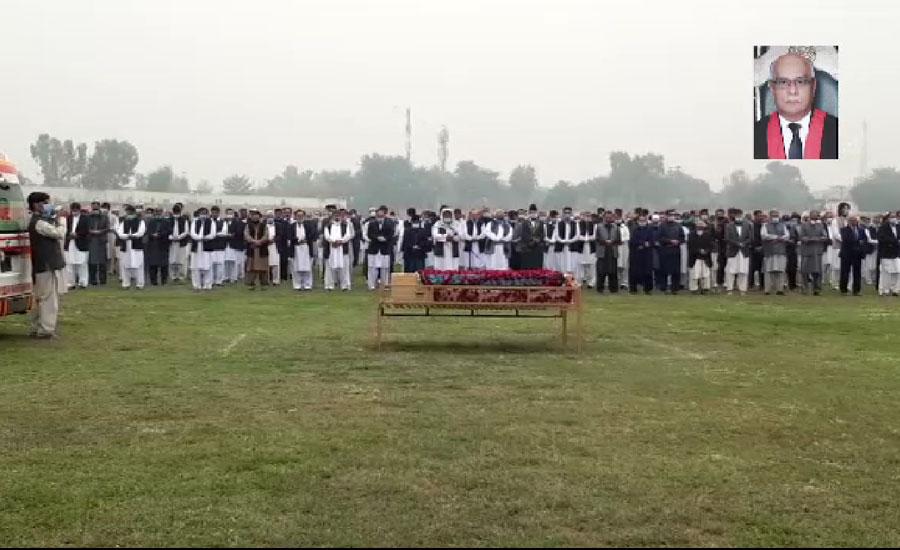 کورونا کے باعث جاں بحق چیف جسٹس پشاور ہائیکورٹ وقار احمد سیٹھ کی نماز جنازہ ادا