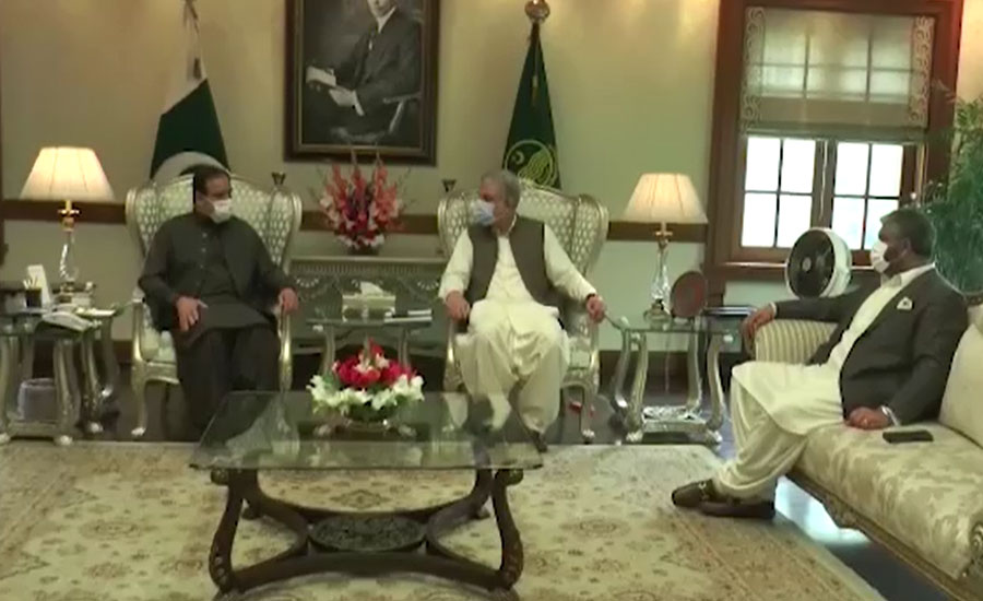 وزیراعلیٰ بزدار اور شاہ محمود کی ملاقات، اداروں کو متنازعہ بنانیکی مہم کی شدید مذمت