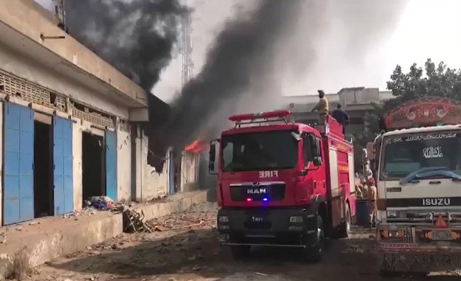 کراچی، لنڈے کے گودام میں لگنے والی آگ پر 13 گھنٹے بعد قابو پا لیا گیا