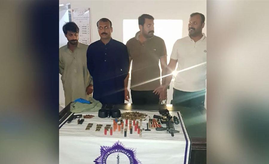 دہشت کی علامت قبضہ مافیا منشا بم کے 4 بیٹے گرفتار