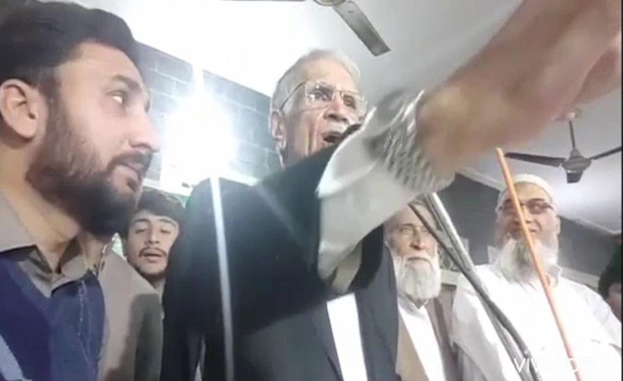 پرویز خٹک کے جلسے میں ہوائی فائرنگ ، وزیر دفاع کااظہار برہمی