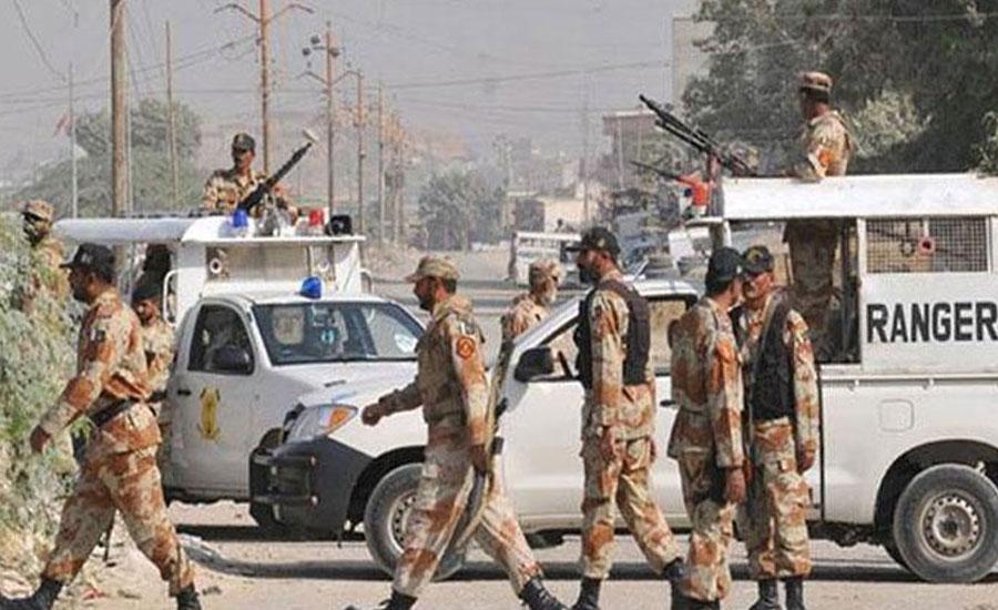 کراچی میں رینجرز  نے کالعدم تنظیم کے 3 دہشت گرد گرفتار