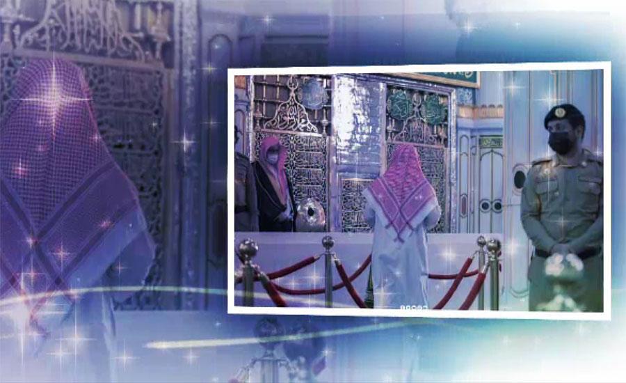 روضہ رسولﷺ اور منبر کے درمیان عبادات کا مقام'' ریاض الجنہ''کھل گیا